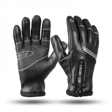 WHEEL UP Touch Screen Full-finger Thermal Windproof Cycling Gloves Anti-Slip Waterproof Bike Gloves