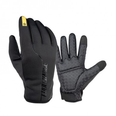 CoolChange Full Finger Winter Cycling Touch Screen Gloves Anti-slip Thermal Windproof Bike Gloves