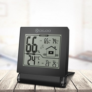 Digoo DG-TH1117 Home Comfort Foldable Mini Collapsible Digital Indoor Hygrometer Temperature Monitor