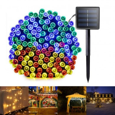 6M 8 Modes Solar Powered 40 LED String Light Outdoor Christmas Holiday Lamp