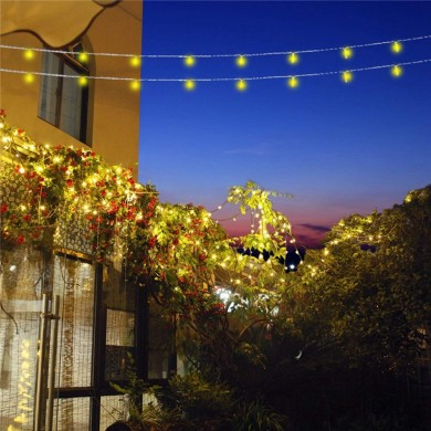 10M Solar Powered 8 Modes 100LED String Light Impermeable Jardín al aire libre Decoración navideña navideña