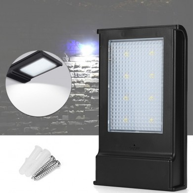 Solar Powered 5W 8LED Lighting Sensor Waterproof IP65 Wall Light Ourdoor Garden Porch Path Lamp