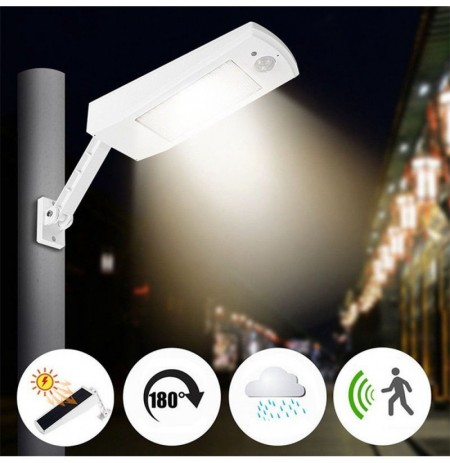 6.8W 48LED Solar Powered Waterproof IP65 Wireless Remote Motion Sensor Street Lamp Wall Light DC4.5V