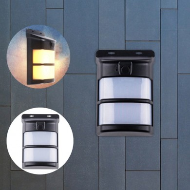 Solar Powered 75 LED Flame Effect Light-controlled Wall Light Waterproof for Outdoor Garden Yard