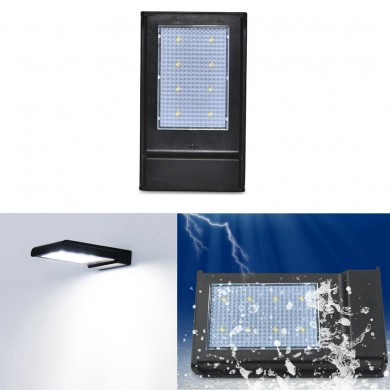 Solar Powered 5W 8 LED Waterproof Light Control Security Wall Lamp for Outdoor Garden Patio