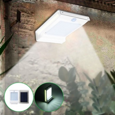 Solar Power 106 LED Motion Sensor Garden Security Lámpara al aire libre Impermeable aplique de pared
