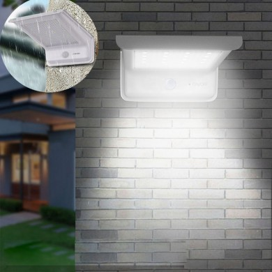20 LED Waterproof Solar Powered Sensor Flood Light Outdoor Garden Security Wall Lamp