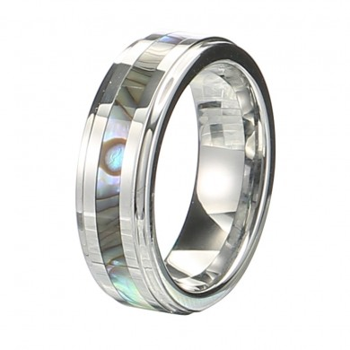 Classic 6mm Tungsten Carbide Ring Shell Tungsten Steel Color