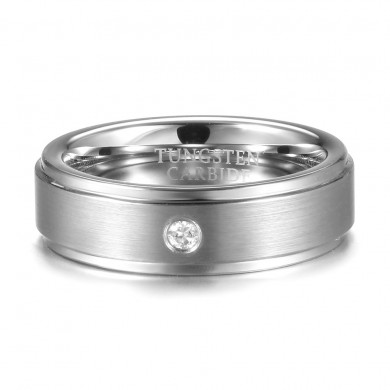 6mm Tungsten Carbide Ring Tungsten Steel Diamond Colorfast