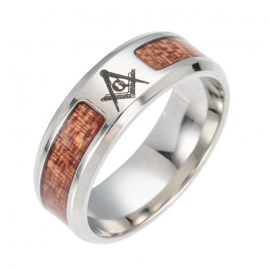 Trendy Insert Cross Tree Of Life Pattern Stainless Steel Ring