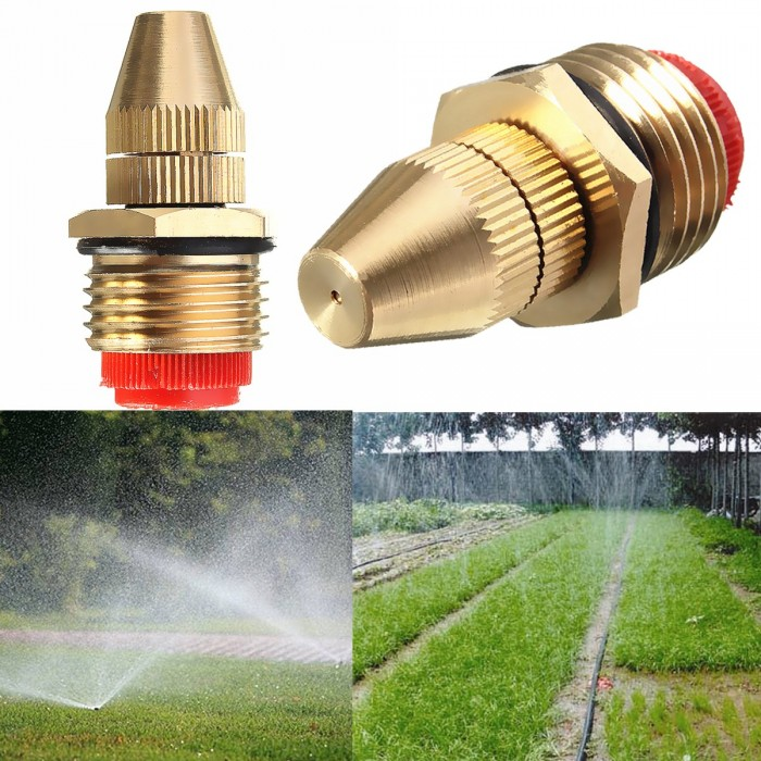 5X Centrifugal Adjustable Water Atomizing Spray Nozzle Irrigation 1//2 Brass