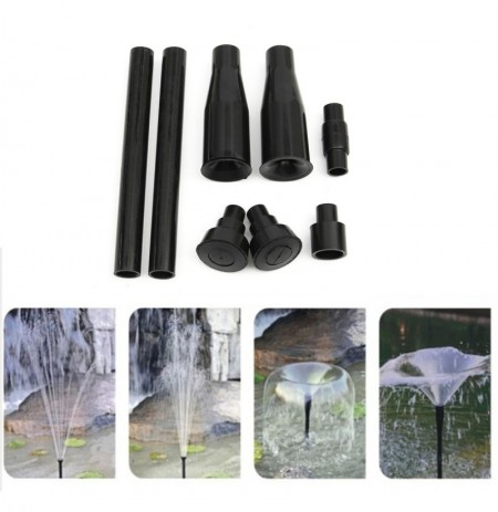 Solar Powered Sprinklers Sprayer Heads Water Pump Garden Fountain Pond Kit for Waterfalls Display