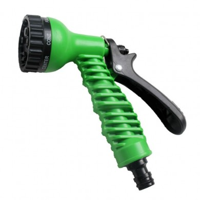 Gardening 7-Pattern Revolver Spray Nozzle Green Watering Multifunctional Spinkle