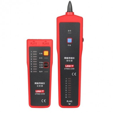 UNI-T UT682 RJ11 RJ45  Wire Tracker Line Finder Telephone Wire tracker Network Cable Tracer Tester