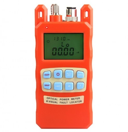 AUA-70AC Orange Optical Power Meter Visual Fault Locator 2 In1 Machine 1-5km Red Light Source Optical Fiber Tester Combination