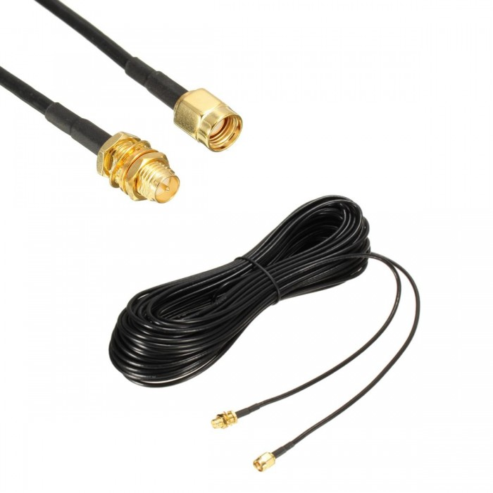 50ft Antenna  Coax Cable RP SMA Male to RP SMA Female