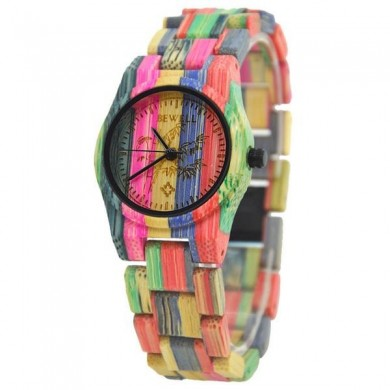 Bewell Casual Wooden Quartz Watch Fashion Full Bamboo Women Wrist Watch