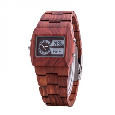 KENON KWWT-37 Wooden Men Quartz Watch Fashion Luminous Rectangle Wrist Watch