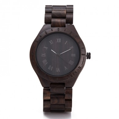 KENON KWWT-32 Men Quartz Watch Fashion Natural Wooden Luminous Wrist Watch