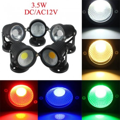 12V 3.5W Garden Lawn Waterproof Flood Lamp Outdooors Super Bright Spot Light