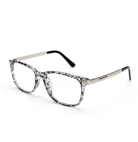 b5875ffe586 Unisex Women Men Retro Eyeglasses Frame Full-Rim Clear Lens Metal Plain  Glasses