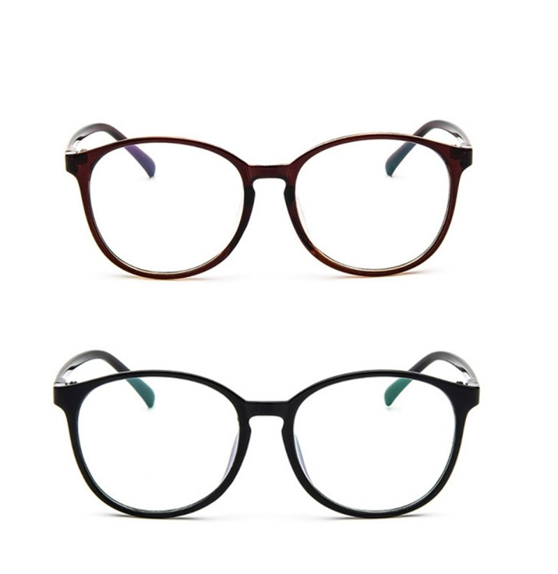 Cheap Large Oval Plastic Reading Glassess Frame (Color: Brown) фото
