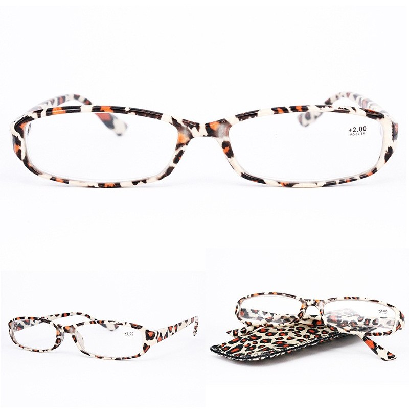Lightweight Full Frame Floral Resin Reading Glasses (Color: 8, Magnification Strength: 2.0) фото