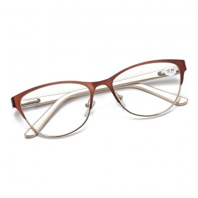 Anziani Ultralight Cat Eye Half Frame Reading Occhiali