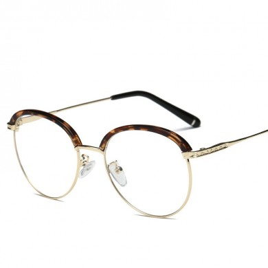 Vintage Round Full Frame Optical Glasses Metal Glasses