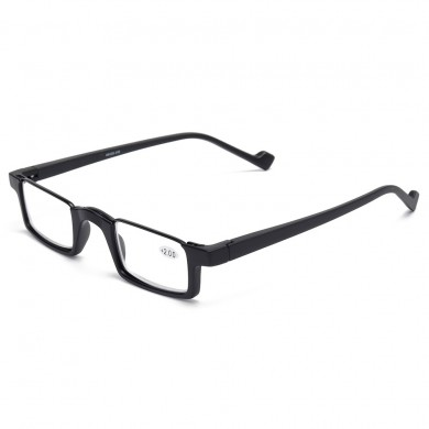 Unisex TR90 Frame HD Reading Glasses Bendable Square Glasses