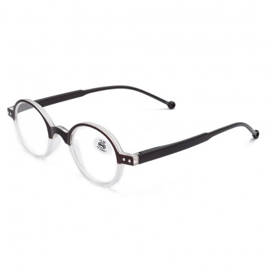 Unisex Fashion Plastic Round Small Frame Farsighted Occhiali