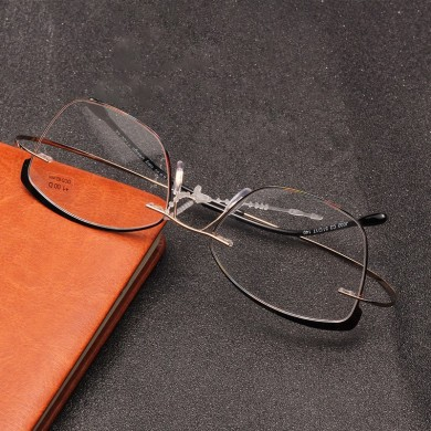 Retro Elastic Folding Metal Reading Glasses with Case