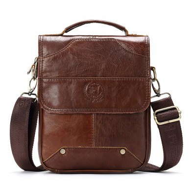 Men Genuine Leather Messenage Bags High Quality Handbag