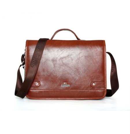 Men Leather Briefcase Business Crossbody Bag Shoulder Bag