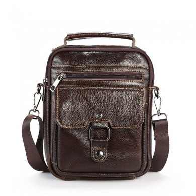 Men Business Genuine Leather Shoulder Bag Crossbody Bag