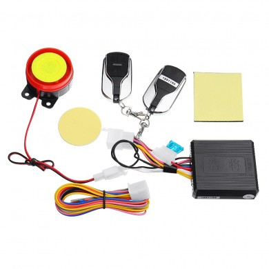 12V 315MHZ Motorcycle Anti-theft Alarm Security Electrical Flameout Dual Remote Control