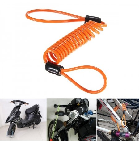 1.5M Disc serratura Security Reminder Cable Moto Scooter Bike Anti-thieft Strumento
