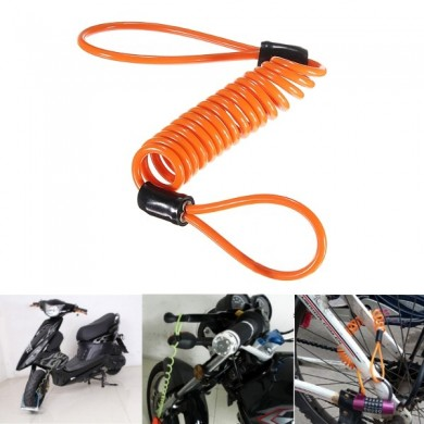 1.5M Disc Lock Security Reminder Cable Motorcycle Scooter Bike Anti-thieft Tool