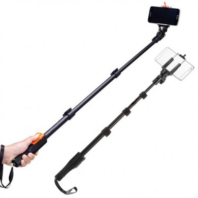 Yunteng 1088 Selfie Stick Handheld Monopod + Clip Holder + Bluetooth Shutter for Phone Camera