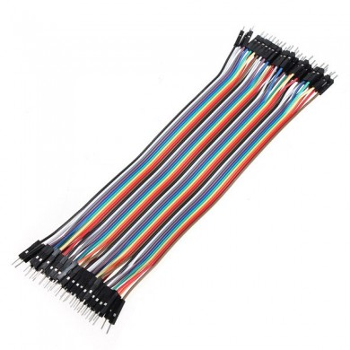 40pcs 30cm Male to Male Color Ribbon Line Cable Jump Wire For Arduino