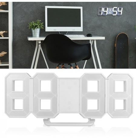 Modern LED Digital Clock Wall Light Table Night lampada 12/24 ore Display