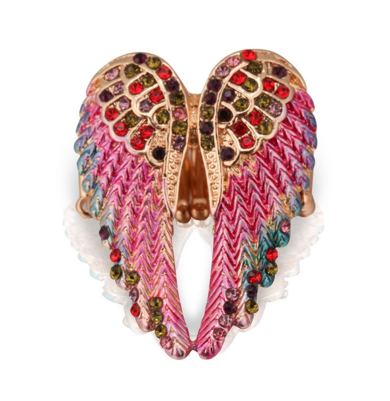 Vintage Inlaid Angelic Angel Wings Ring Elasticity Rings (Style: #3) фото