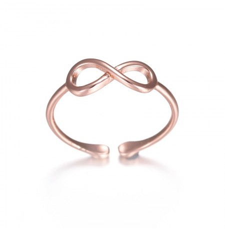 Rose Gold Silver Ring Simples Casual Wear Moda Anel Aberto