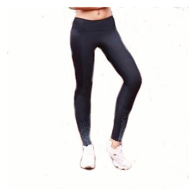 Women Galaxy Sport Trousers High Elasticity Reflect Light Dot Fitness Pants For Night Runner