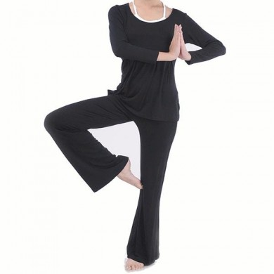 Plus Size Women Yoga Suits Sports Fitness Yoga Clothing Set Modal Bunched Stitching Sportswear