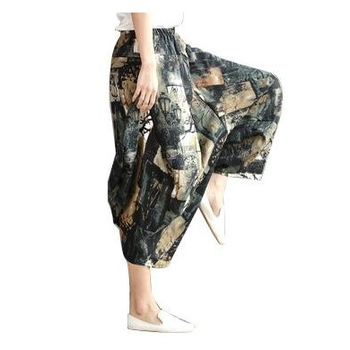 Original Folk Custom Harem Spring Loose large Yoga Wide Legs Pants