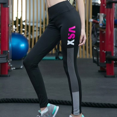 Women Sport Fitness Yoga Sexy Pants Leggings Openwork Perspective Stitching
