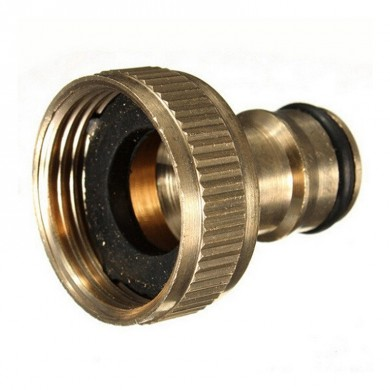 3/4 Inch Brass Threaded Garden Hose Water Sprayer Tap Fittings Pipe Quick Connector