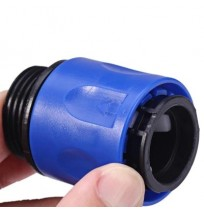 Garden Stretch Hose Adaptor Connector, Blue