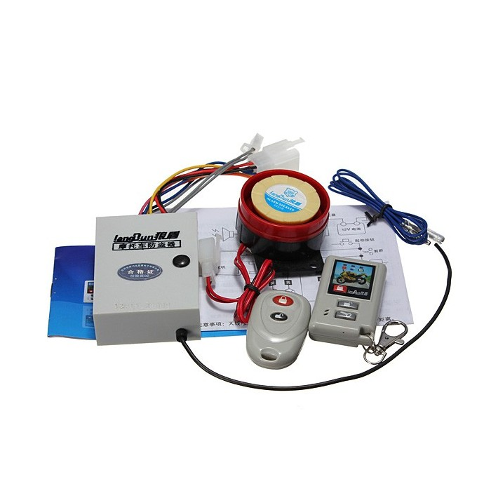 Motorcycle Motor Bike Two-way Anti Theft Security Alarm System